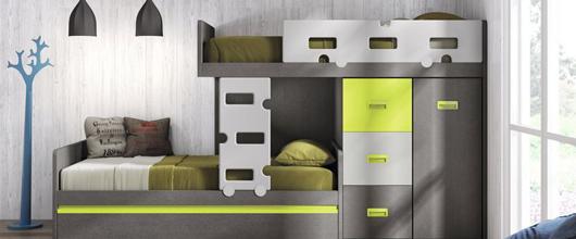Dormitorios juveniles madrid dormitorios juveniles de for Cama nido hipermueble